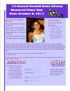 100613 Kendall Dawn Sweany Memorial Poker Run